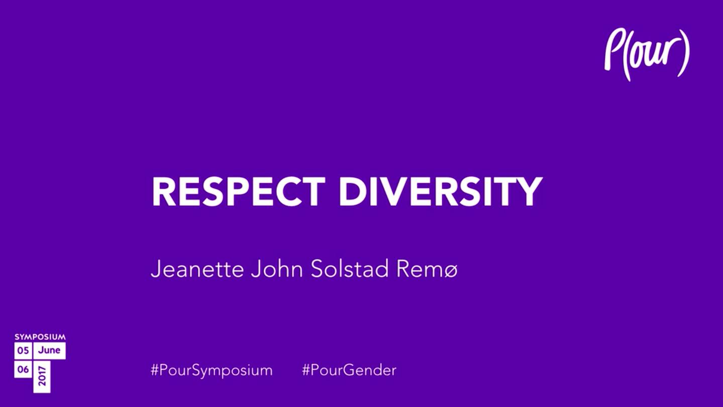 Jeanette John Solstad Remø | Respect Diversity