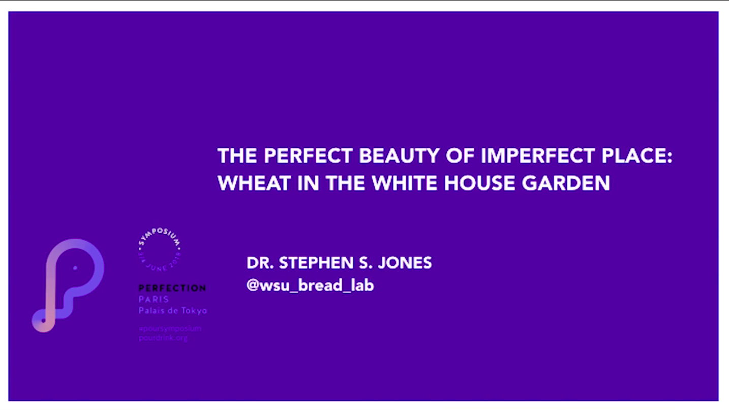 DR. STEPHEN JONES |THE PERFECT BEAUTY OF IMPERFECT PLACE: WHEAT IN THE WHITE HOUSE GARDEN